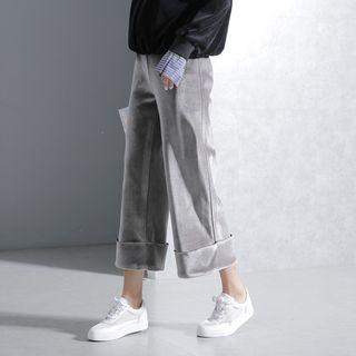 Sonne - Wide-Leg Cropped Velvet Pants