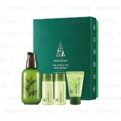Innisfree - The Green Tea Seed Serum (4 items): Serum 80ml + Pack 10ml + Skin 15ml + Lotion 15ml (X-MAS Limited Set)