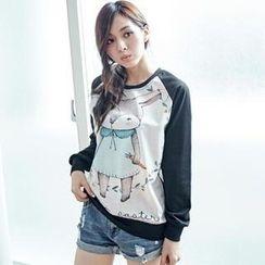BAIMOMO - Printed Raglan T-Shirt