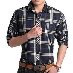 JIBOVILLE - Long-Sleeve Plaid Shirt
