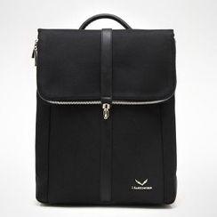 Asphalt - Faux-Leather Laptop Backpack