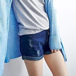 LULUS - High-Waist Cuffed Denim Shorts