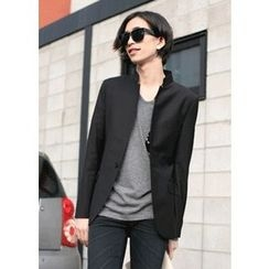 MODSLOOK - Mandarin-Collar One-Button Blazer