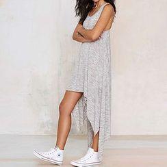 Eloqueen - Sleeveless Asymmetric-Hem Dress