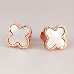 Nanazi Jewelry - Four Leaf Clover Stud Earrings