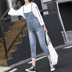 Katie Bloom - Cropped Dungaree