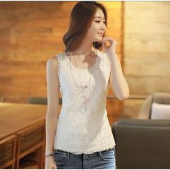 Lovebirds - Sleeveless Lace Top