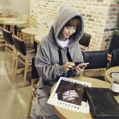 NANING9 - Washed Hooded Pullover Dress
