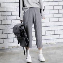 Sonne - 針織闊腿九分褲
