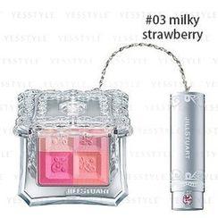 Jill Stuart - Mix Blush Compact N (4 Color Blush Compact + Brush) - # 03 Milky Strawberry