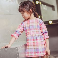 Lemony dudu - Plaid Kids Dress
