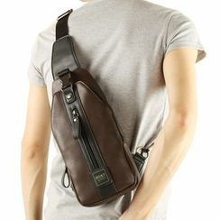 Moyyi - Faux Leather Sling Bag
