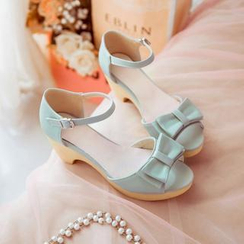 Pastel Pairs - Bow Heeled Sandals