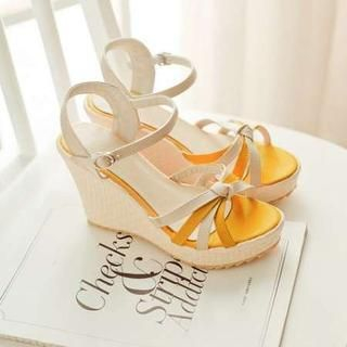 Pangmama - Color-Block Wedge Sandals