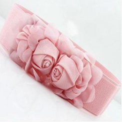Charm n Style - Rose Accent Slim Belt