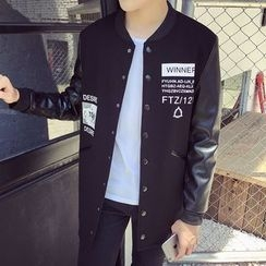 Besto - Letter Buttoned Jacket
