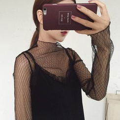 Dute - Mesh Long-Sleeve Top