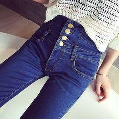 Oaksa - High Waist Skinny Jeans