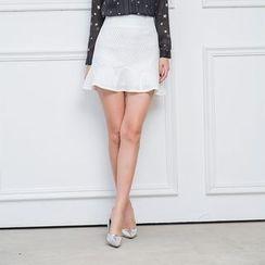 LROSEY - Ruffled Pencil Skirt