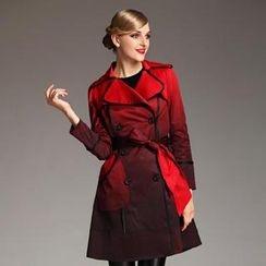 Le Teresa - Tie-Waist Gradient Trench Coat