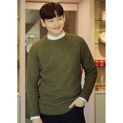 JOGUNSHOP - Raglan-Sleeve Cable-Knit Sweater
