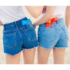 HOTPING - Distressed Denim Shorts