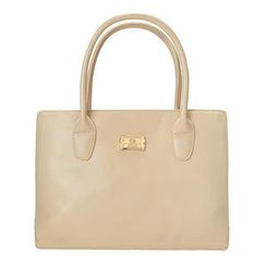 ans - Faux-Leather Zip Tote