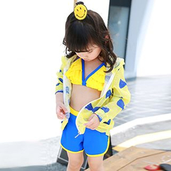 Angel & Lele - Kids Set: Swim Top + Swim Bottom + Jacket