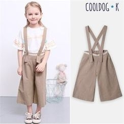 WALTON kids - Girls Lace-Trim Suspender Pants