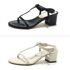 MODELSIS - Genuine Leather Strappy Sandals