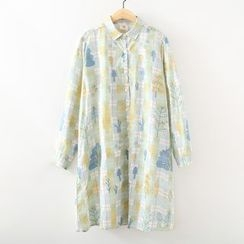 ninna nanna - Print Long-Sleeve Shirtdress