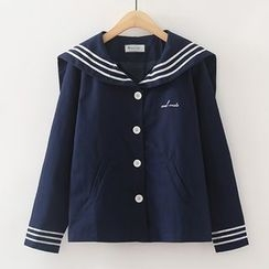 ninna nanna - Sailor Collar Long-Sleeve Top