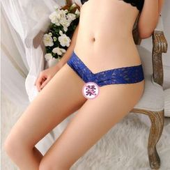 Colorful Days - Faux Pearl Lace Thong