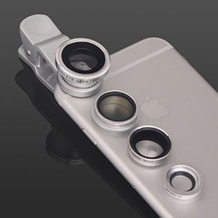 BAINER - 4-in-1 Mobile Camera Lens Kit: Wide Angle + Micro + Fish Eye + CPL Fliter