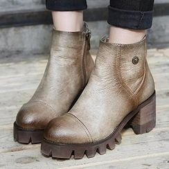 Mancienne - Chunky-Heel Ankle Boots