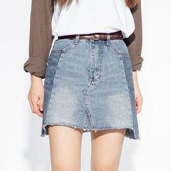 Heynew - A-Line Denim Skirt