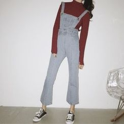 Jeans Kingdom - 喇叭牛仔背帶褲