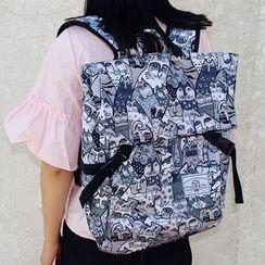 Bolso - Cat Print Backpack