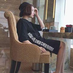 Melon Juice - 字母短袖T恤裙