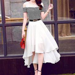 Romantica - Mock Two-Piece Chiffon Dress
