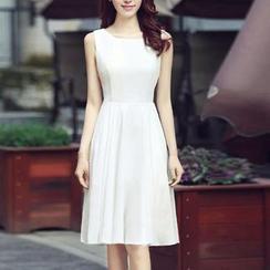 GETU - Sleeveless Chiffon Dress