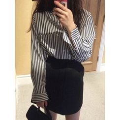 maybe-baby - Cotton Striped  Shirt