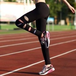 LUSHEY - Cutout Yoga Pants