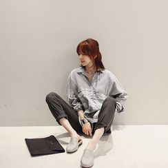 NANING9 - Linen Blend Shirt