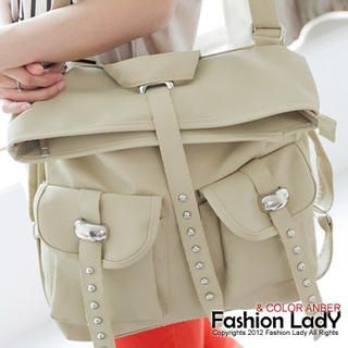 Fashion Lady - Studded Strap Backpack