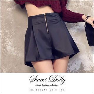 Sweet Dolly - Faux-Leather Culottes