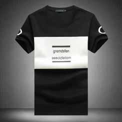Alvicio - Lettering Short-Sleeve T-Shirt