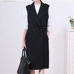 Ebbuxida - Double Breasted Long Vest