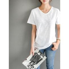 STYLEBYYAM - Colored Cotton T-Shirt