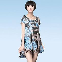 Mythmax - Short-Sleeve Floral Top